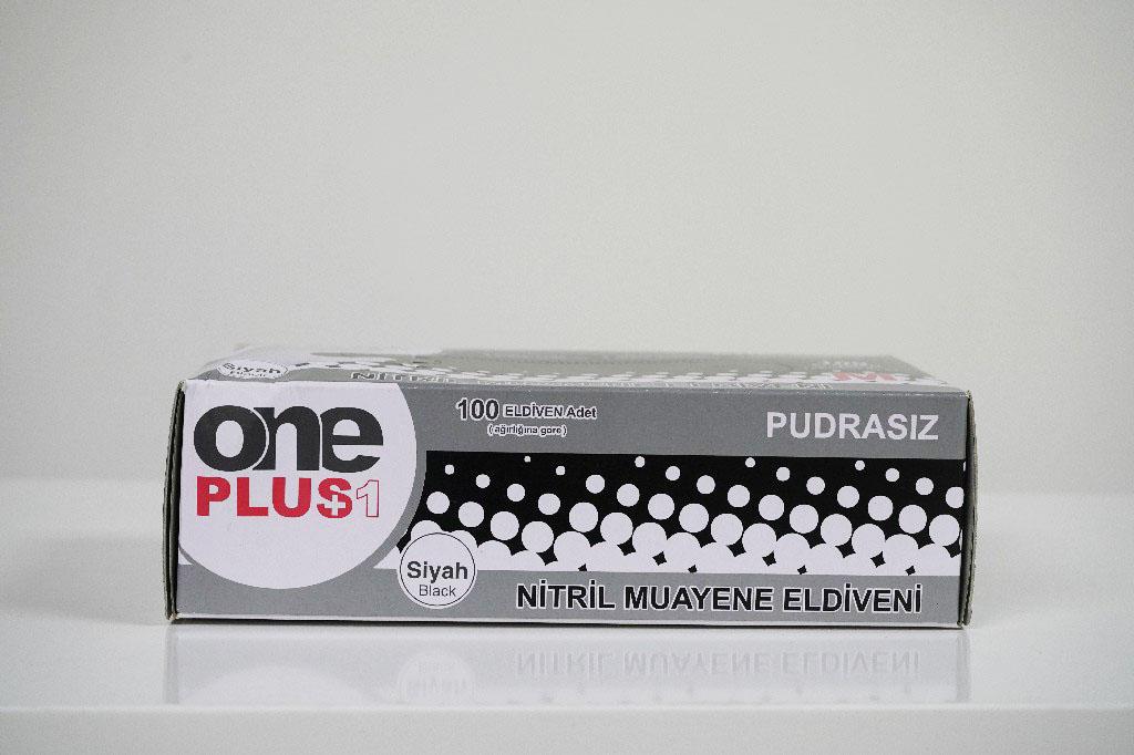 Nitril Pudrasiz Muayene Eldiveni Siyah 100'lü 3